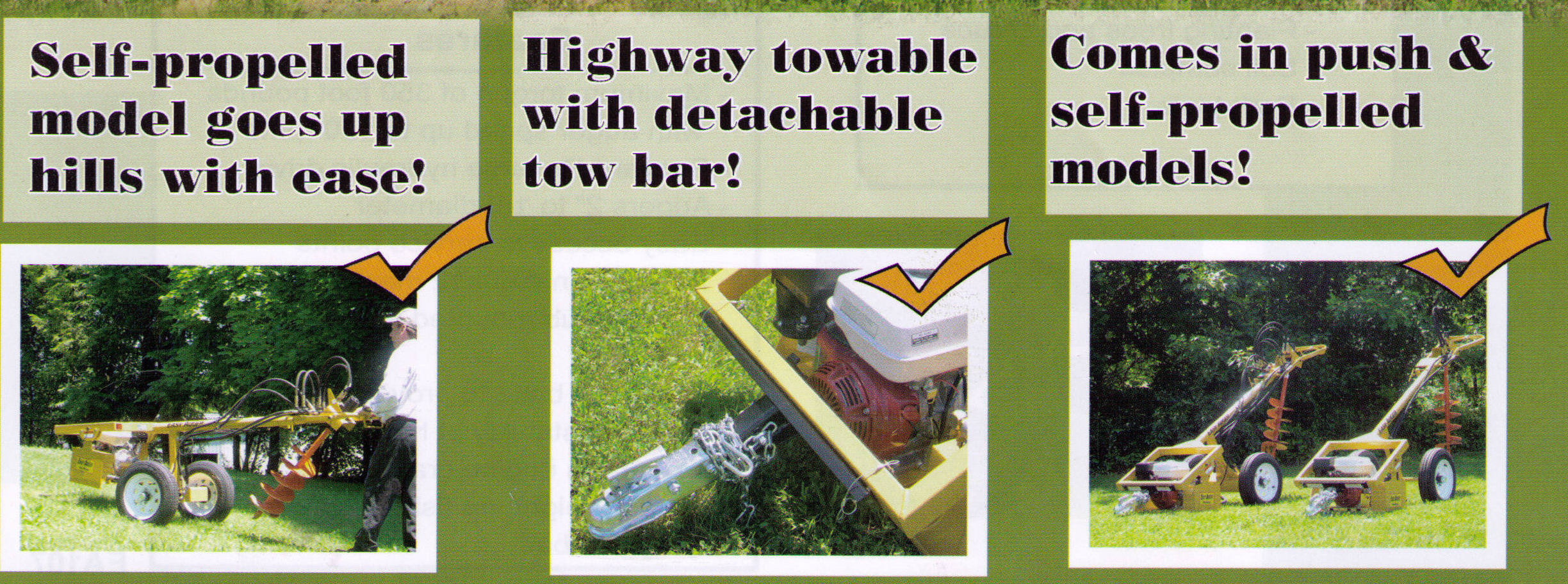 Available In Push And Self-Propelled, Optional Tow Bar Available For Highway Towing