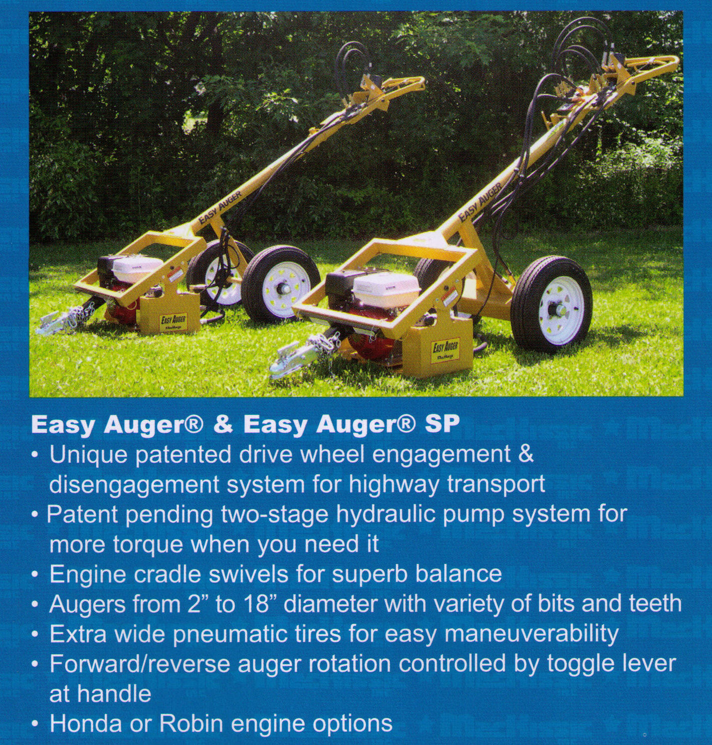 Easy Auger Features