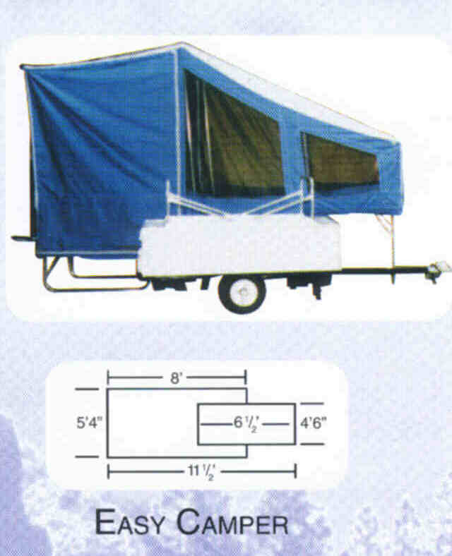 Easy Camper - Shown Folded For Transport And Opened For Use