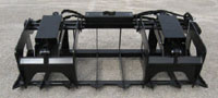 Six Foot Wide Skid Steer Mount Grapple With Twin Upper Grapples, Each 20 Inches Wide