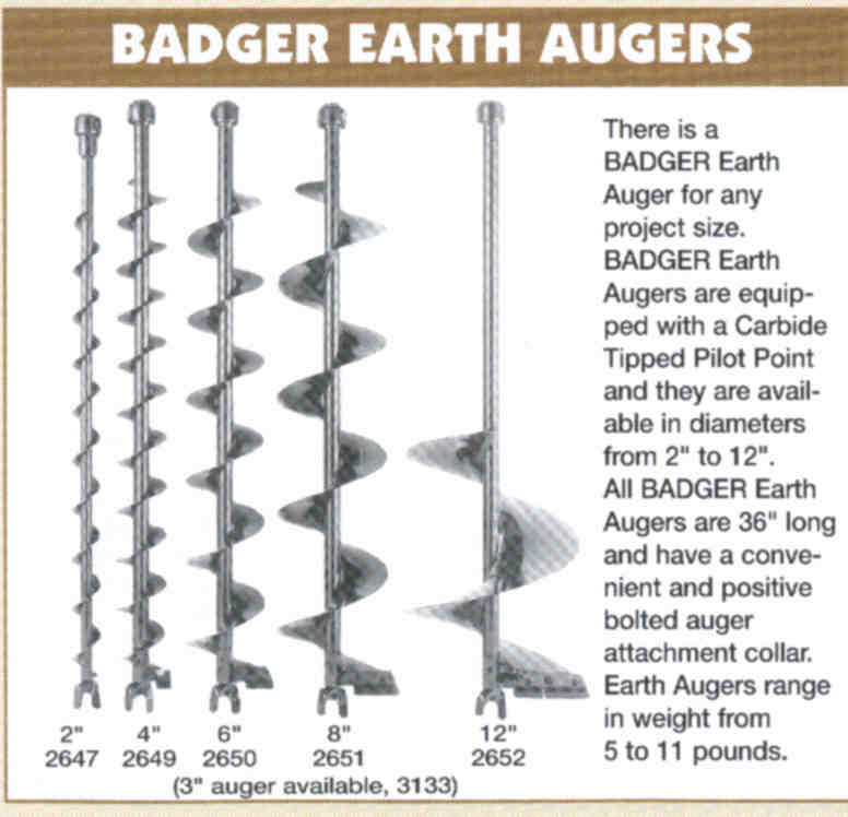 Badger Earth Augers
