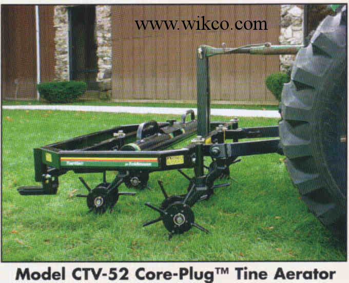 Rear Mounted 3 Pt. Hitch Core Plug Tines