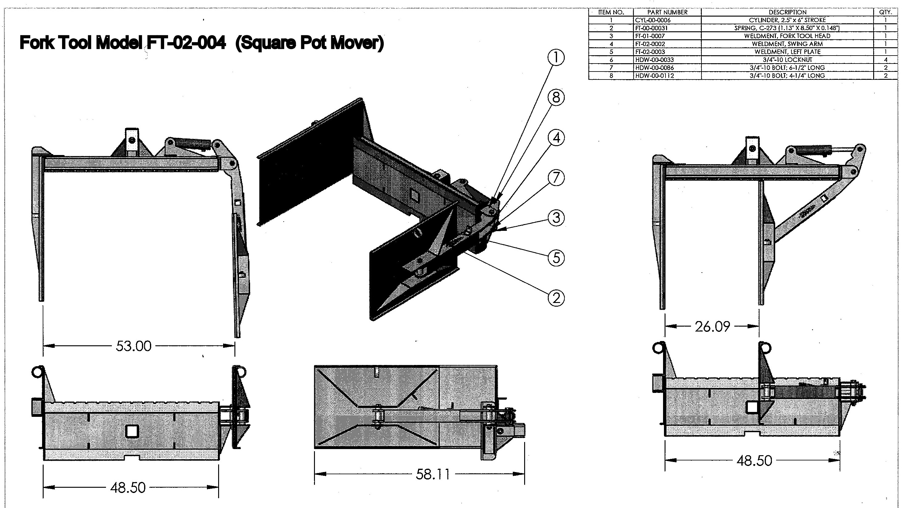 Square Pot Mover / Fork Tool