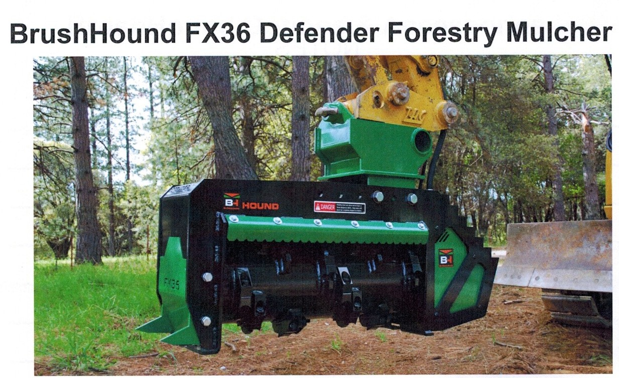 fx36forestrymulcher brush hound excavator mounted brush shredder  at readyjetset.co