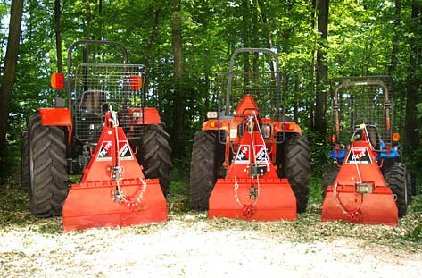Use of articulated wheeled tractors in logging