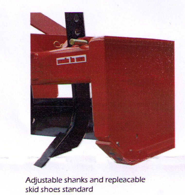 Adjustable shanks and replaceable skid shoes standard