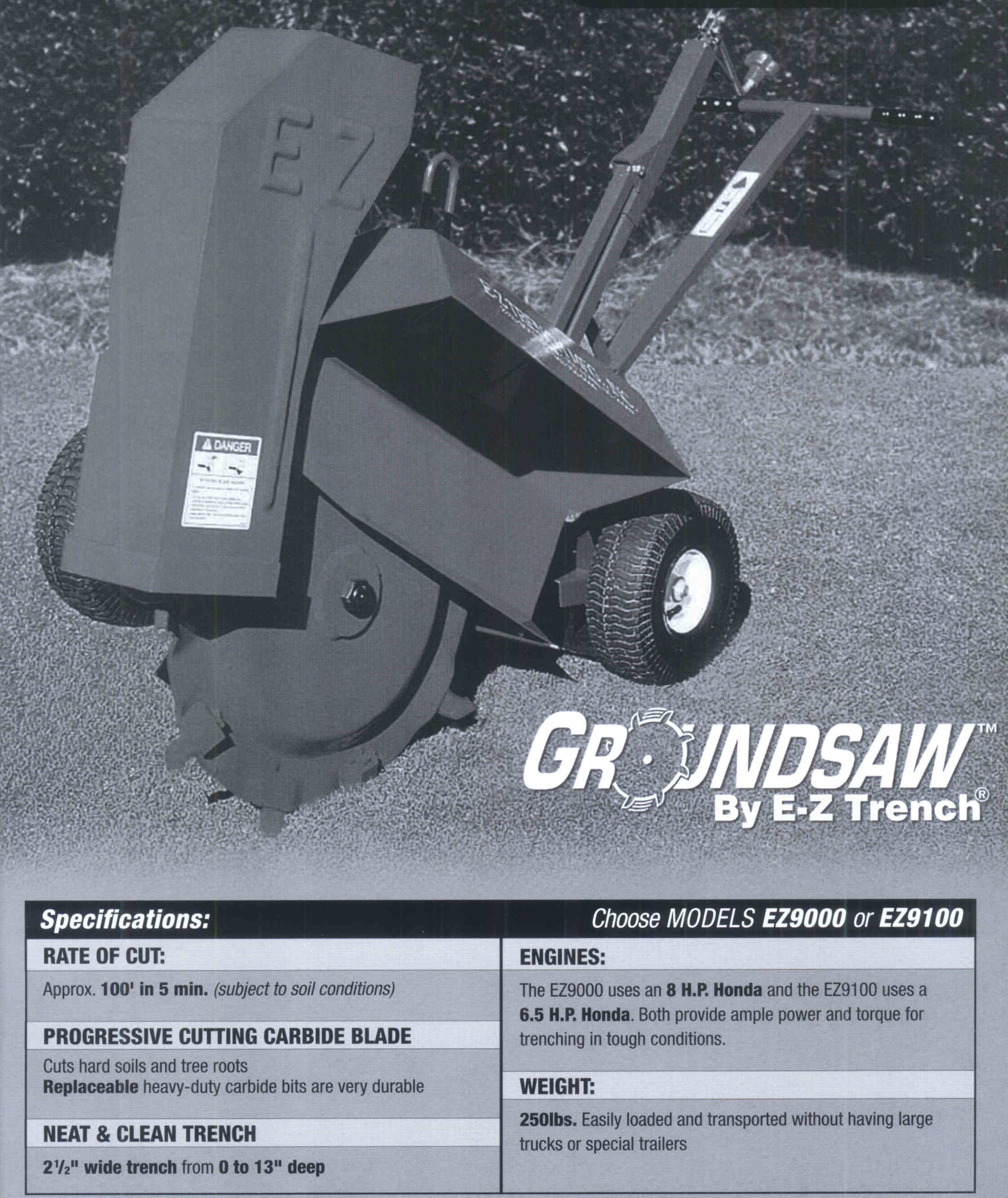 Specifications For Groundsaw Trenching Machine