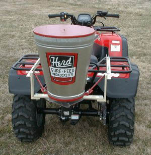 ATV Mounted Electric Broadcast Spreader