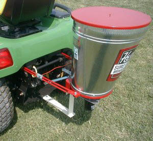 Garden Tractor Mounted (On Hitch Plate) Electric Broadcast Spreader
