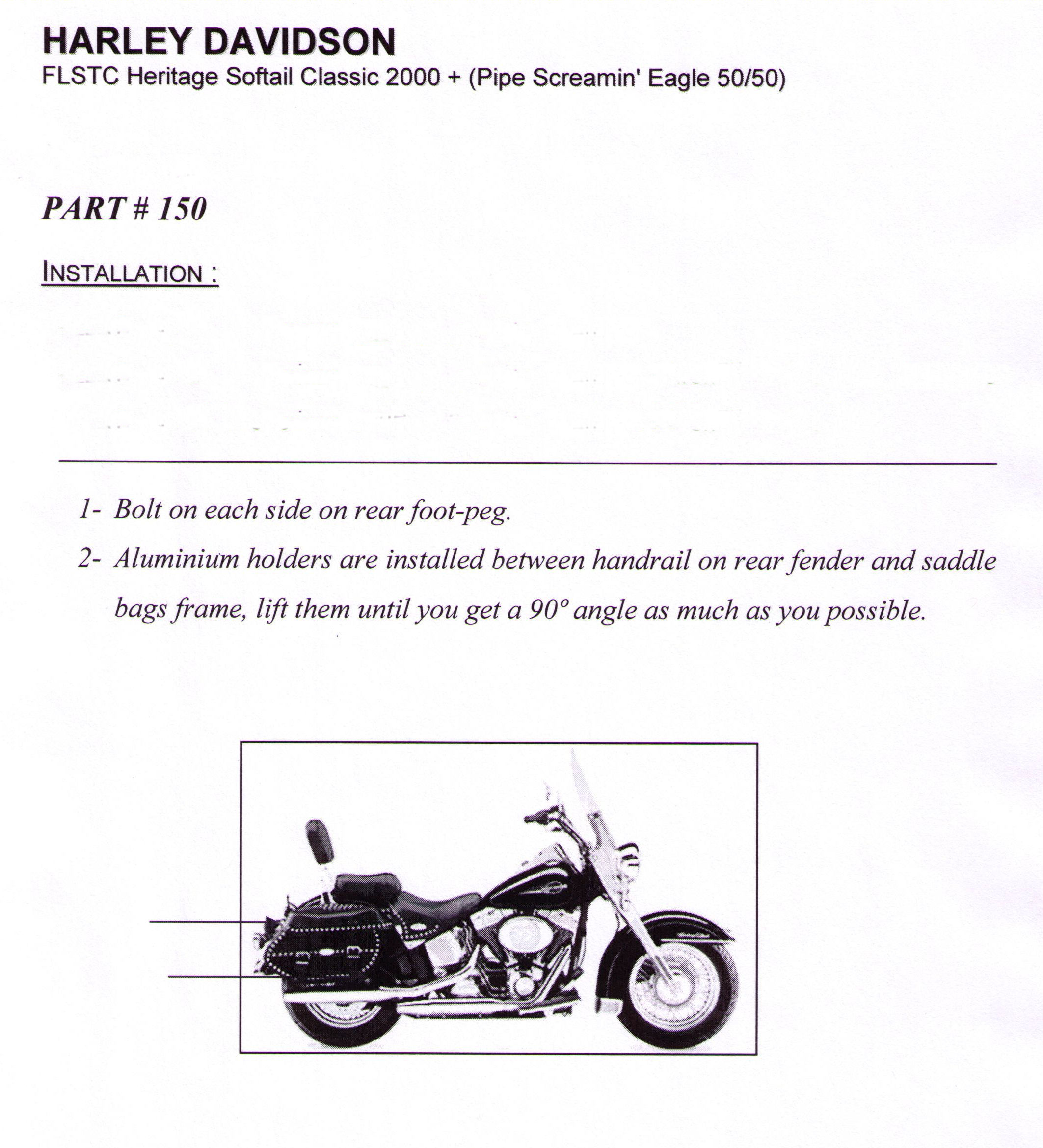 Installation Instructions Harley FLSTC