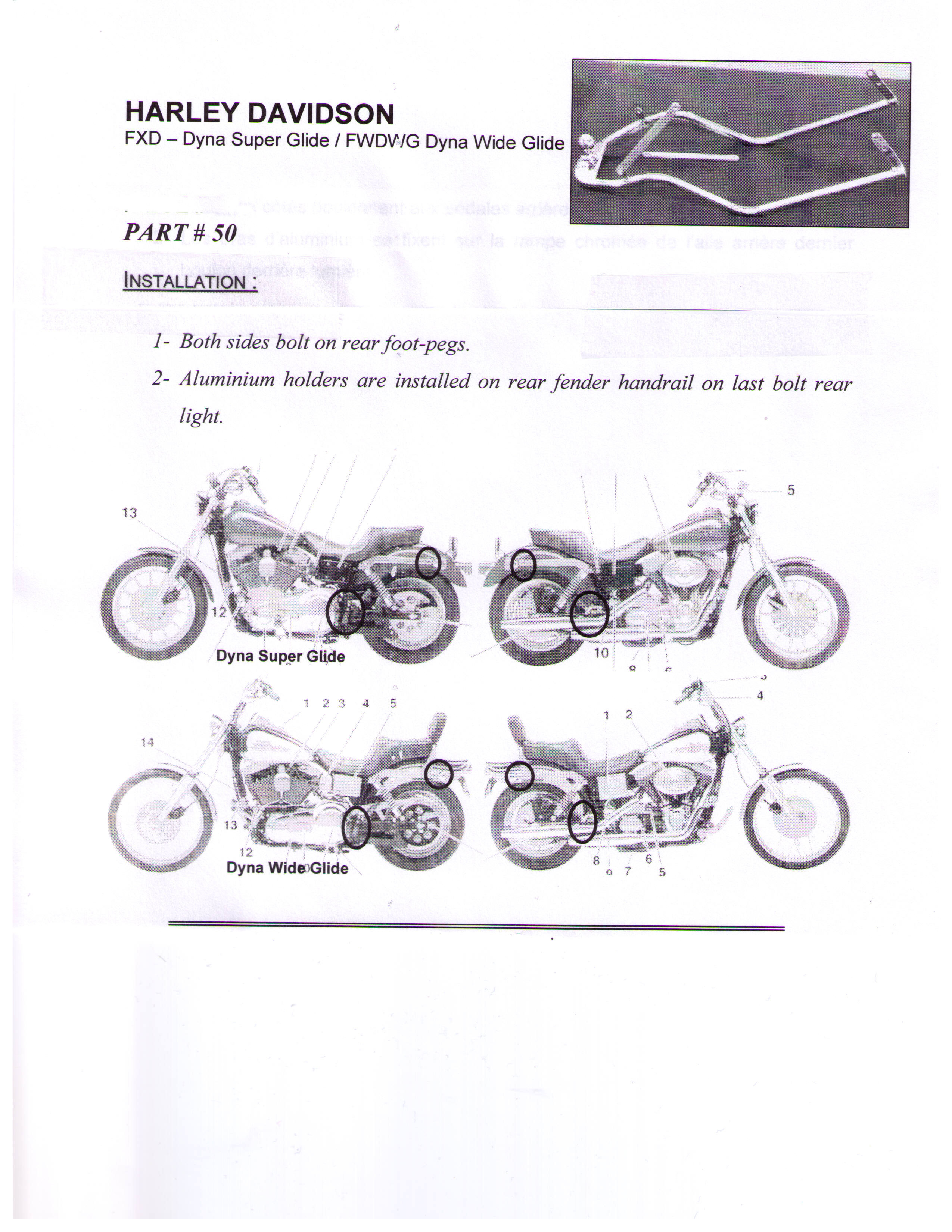 Installation Instructions Hitch 50 Harley FXD