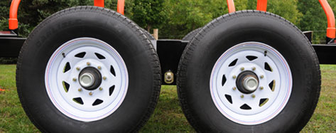 LT30H Trailer Configuration Designed For On-Road Use, Comes With ST205-75R14 LRC Highway Tires