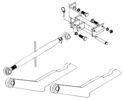 Two Point Hitch Conversion Kit To Category 1 Three Point Hitch For IHC/Farmall 400 Row Crop Tractor