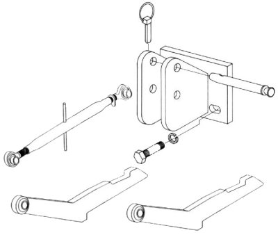Two Point Hitch To Three Point Hitch Conversion Kits