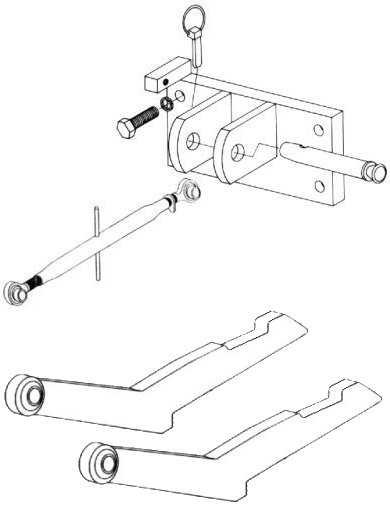 Two Point  Hitch Conversion Kit To Category 1 Three Point Hitch For IHC/Farmall 544 And 656 Tractors