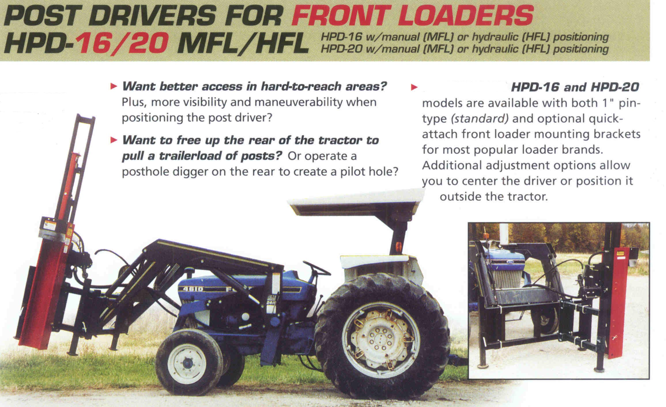 Features Front Loader Mount Models