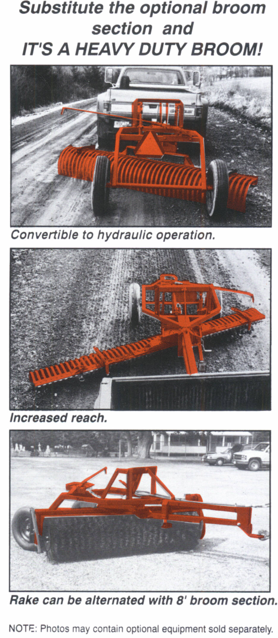 HT Landscape Rake - Convertable To Broom