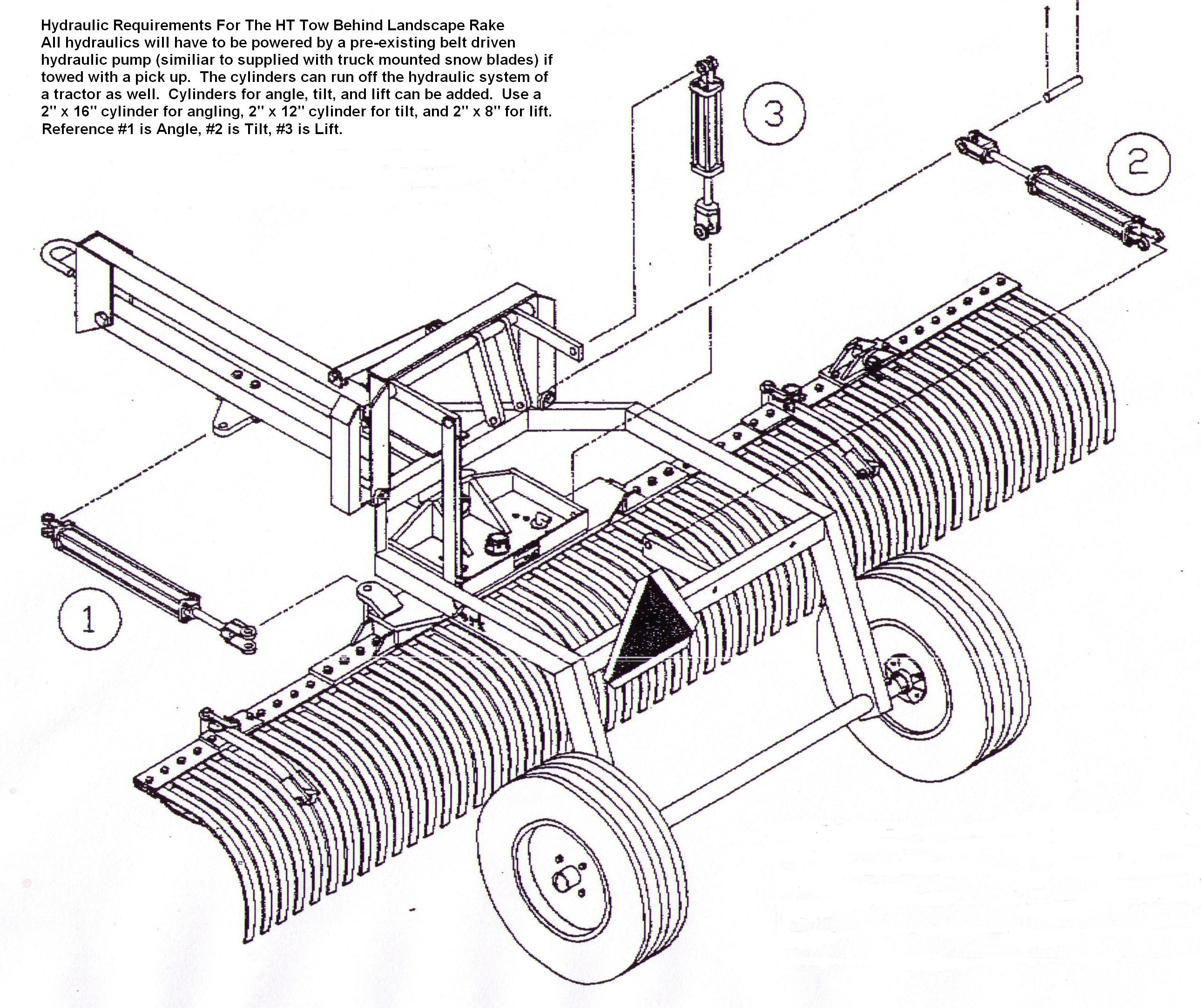 Drawing Showing Cylinder Placement