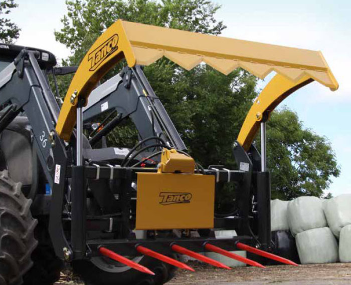 Skid Steer Mount Hydraulic Powered Bale Cutter
