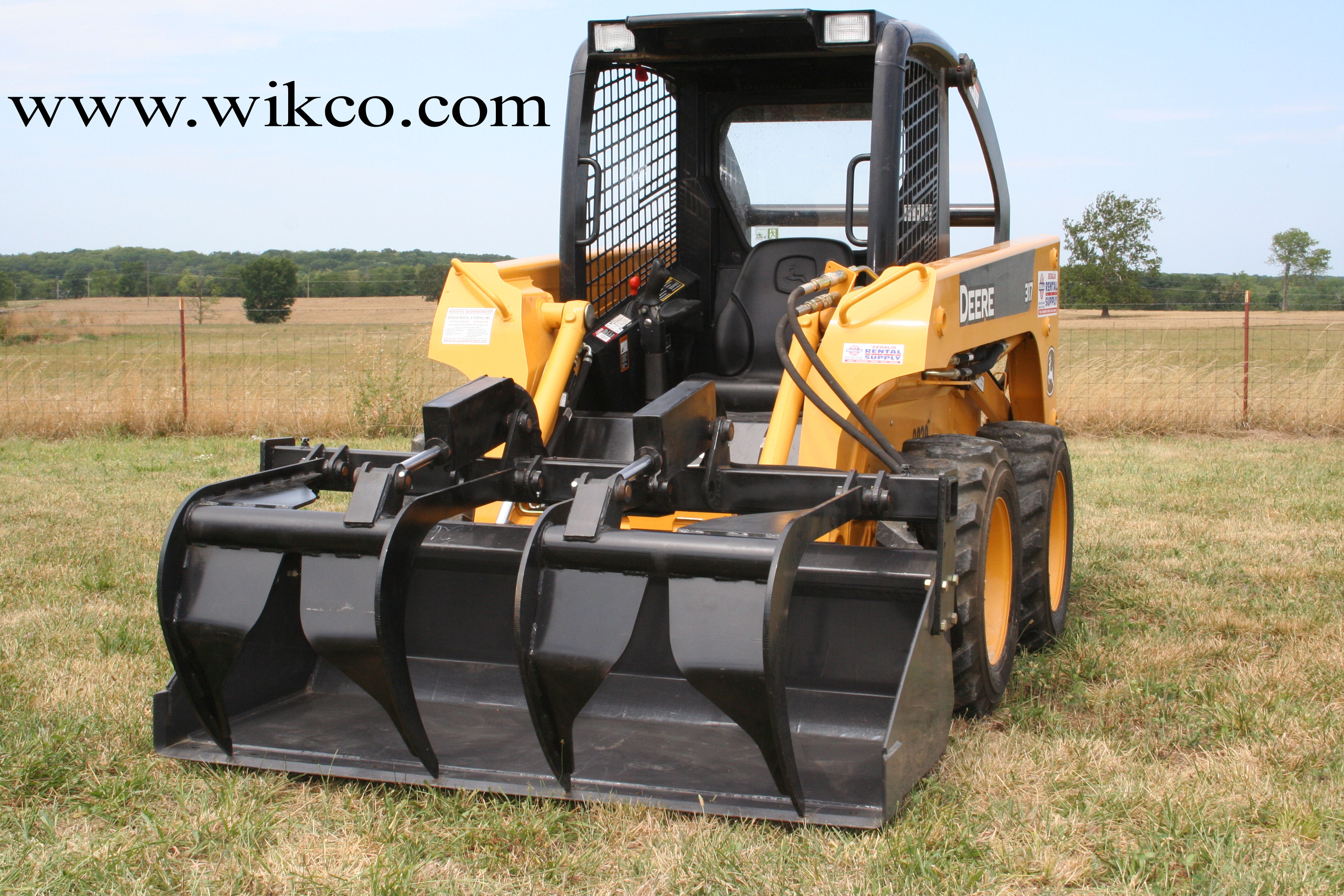 Add-A-Grapple For Skid Steer Loaders
