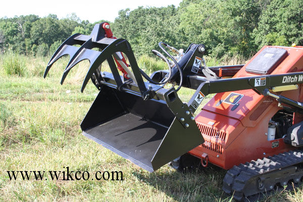 Add-A-Grapple For Mini-Skid Steer Loaders