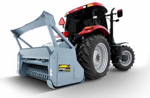 IMP Industrial Series PTO Powered Brush Mulcher, Tractor Mounted Category 2 Three Point Hitches