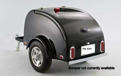 ION Cargo Trailer With 22.3 Cubic Foot Capacity Shown With Optional Cooler Rack On Front Of Tongue, And Optional Wheels