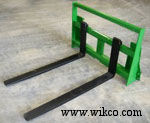 Pallet Fork Frames With Integrated Brackets For John Deere 400/500 And 600/700 Series Loaders