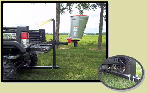 End Gate/Hitch Plate Mounted On Utility Vehicle With Dump Box