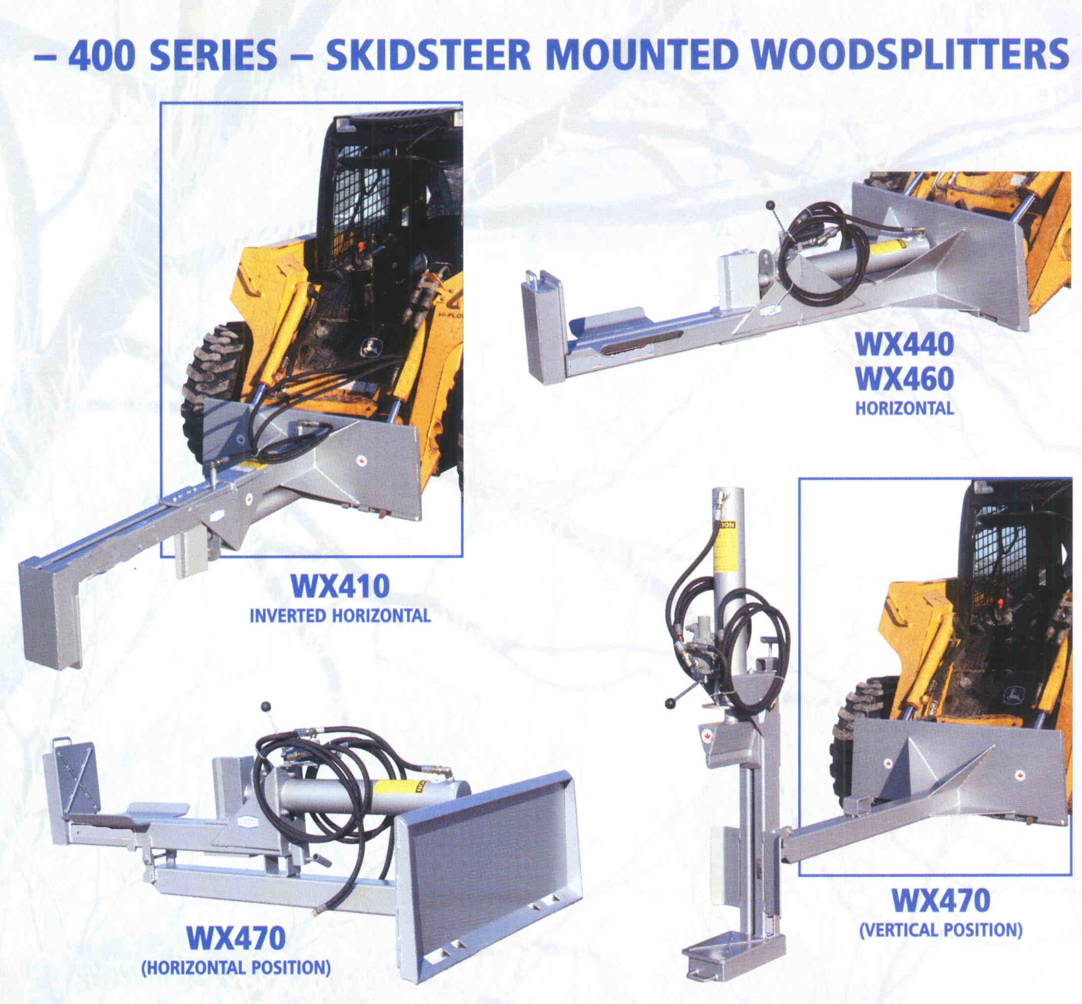 Skid Steer Mounted Logsplitters