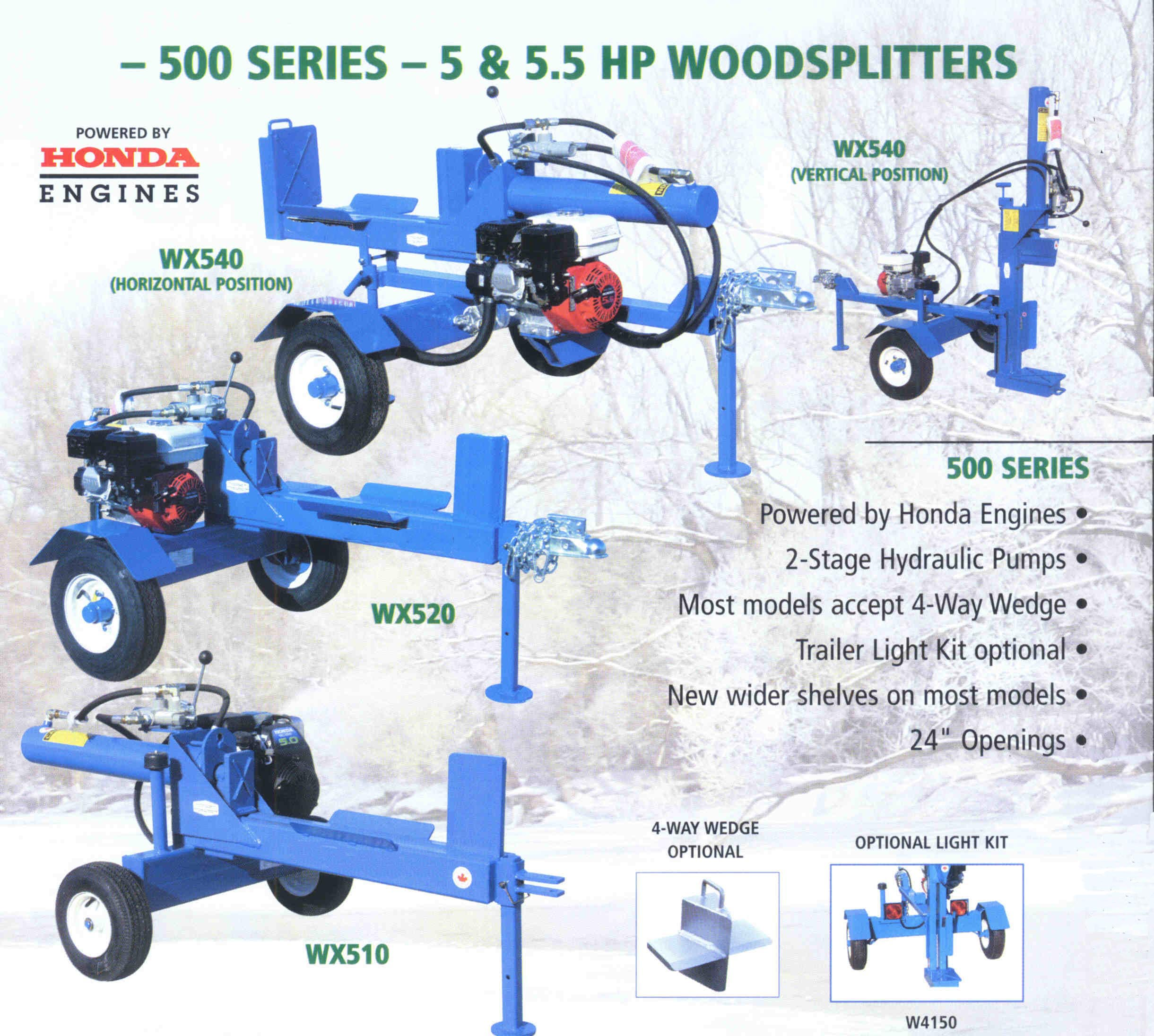 Trailer Mounted Logsplitters - 500 Series