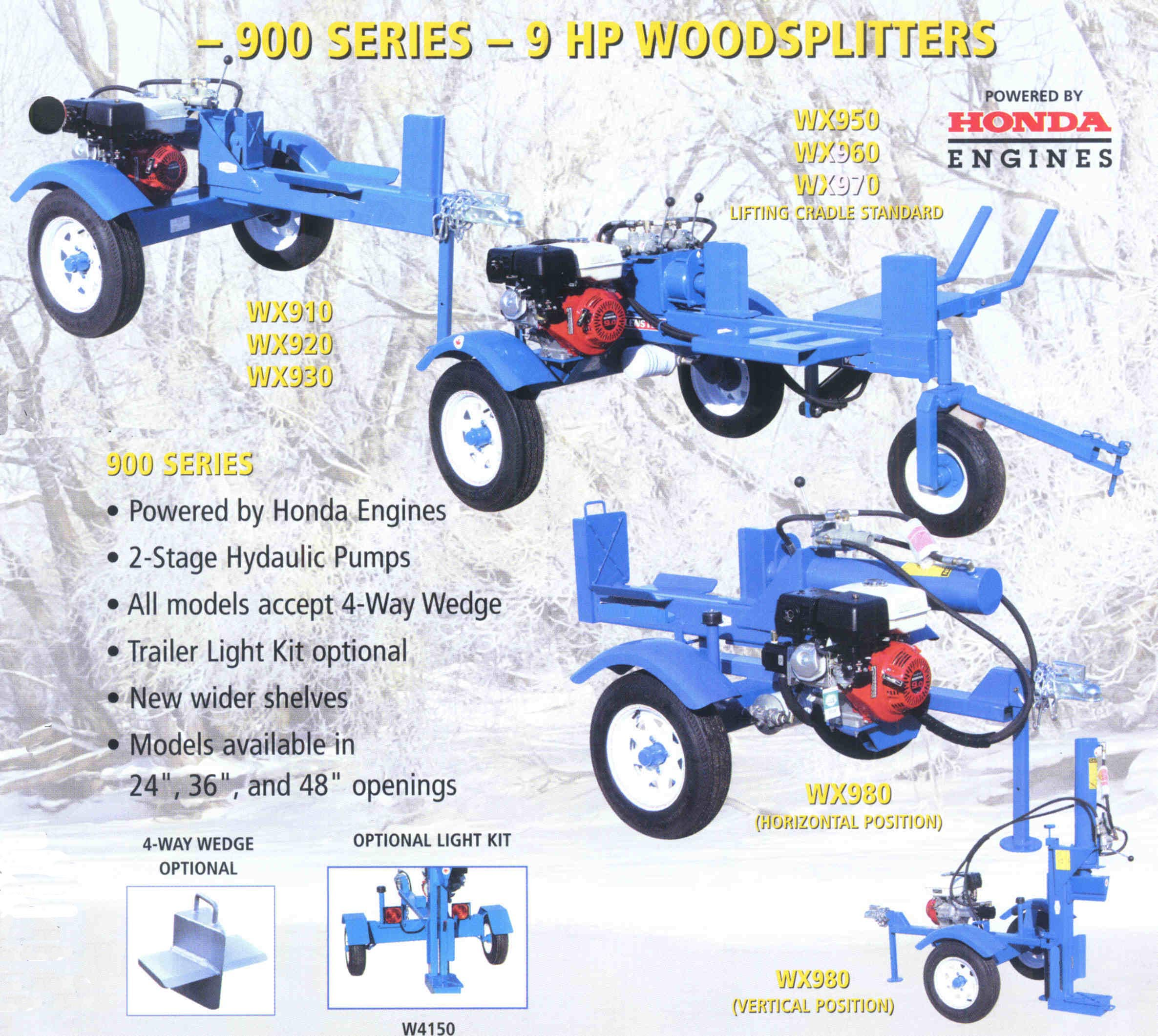 Trailer Mounted Logsplitters - 900 Series