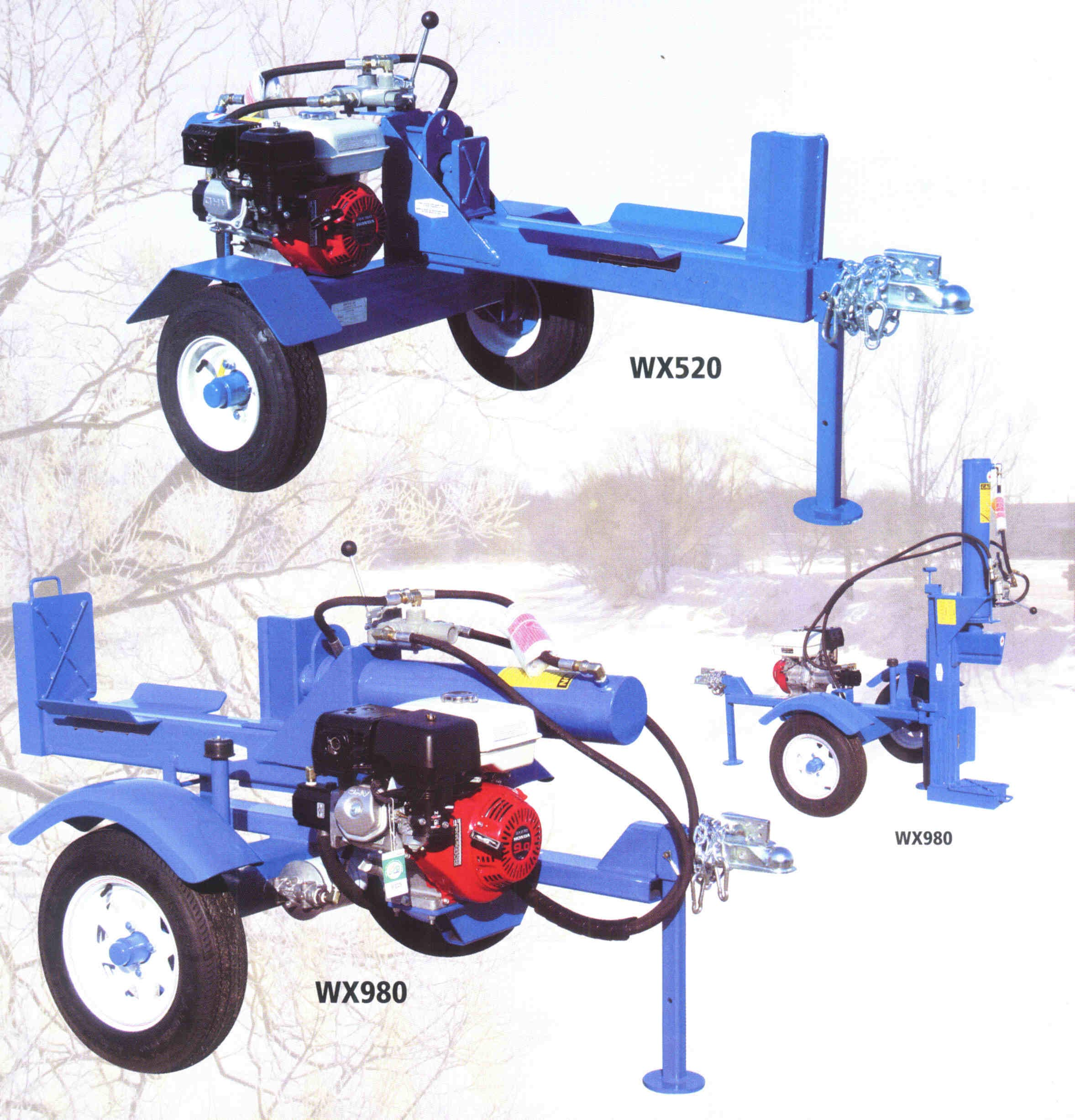Engine Powered Trailer Mounted Logsplitters