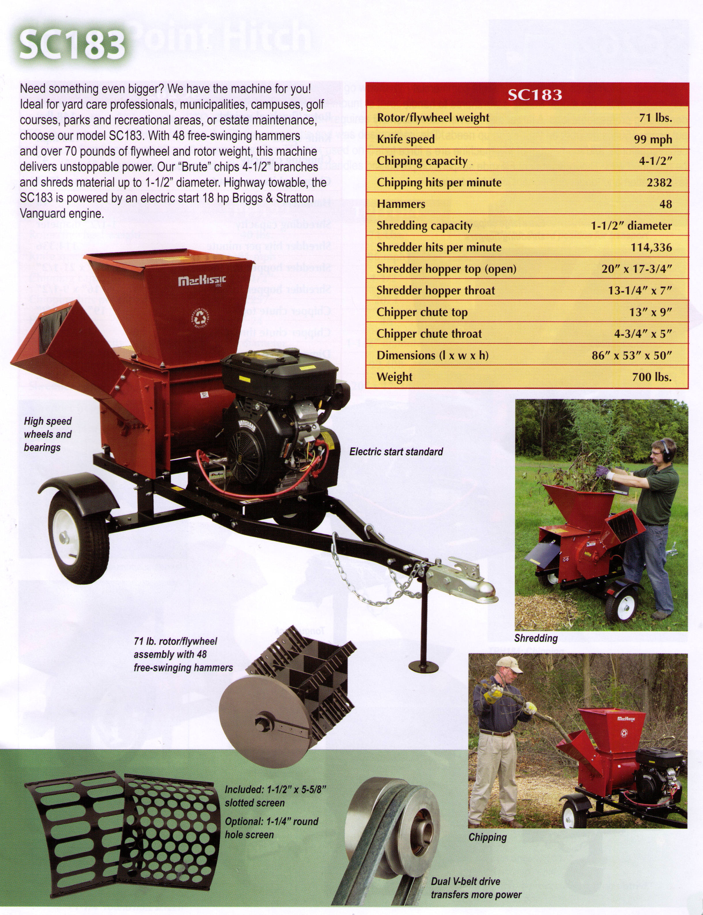 Brute Professional Series Shredder-Chipper