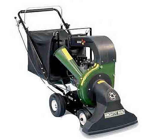 Walk Behind Chipper Bagger Vacuum, Reduces Limbs, Leaves, And Debris By Up To 8 To 1, Has 4 Bushel Collection Bag