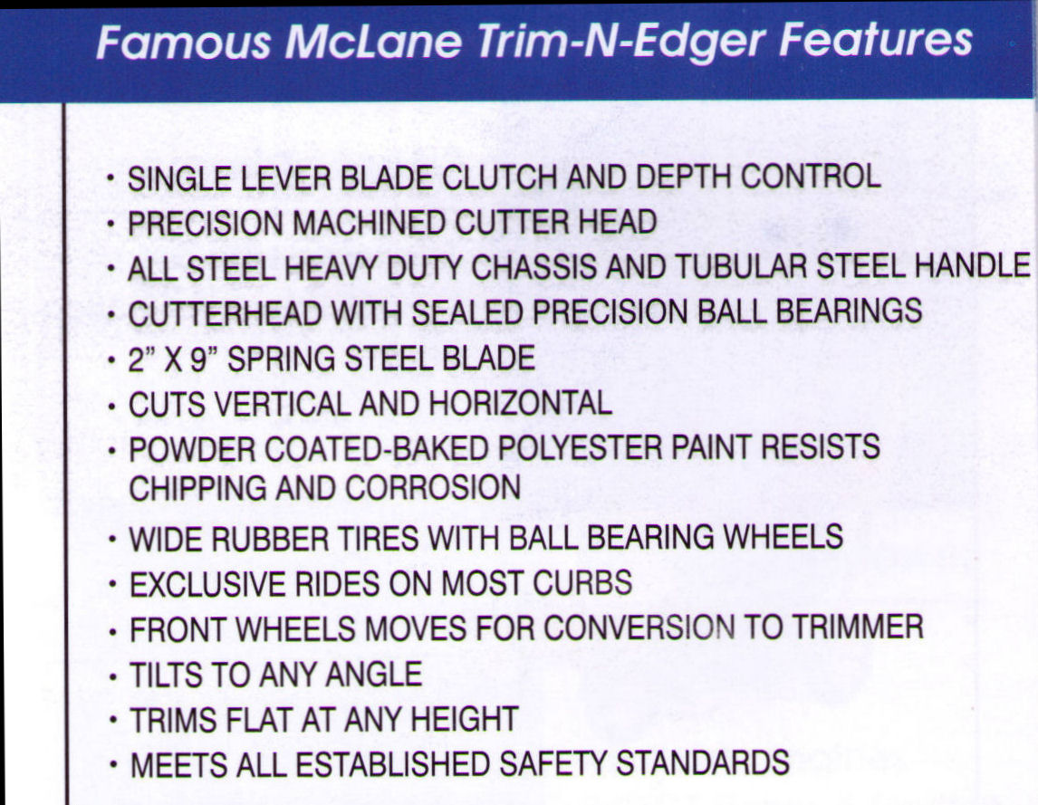 Features Mclane Trim-N-Edge Lawn Edgers