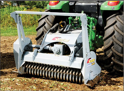Three Point Hitch Mount, PTO Powered Brush Mulcher
