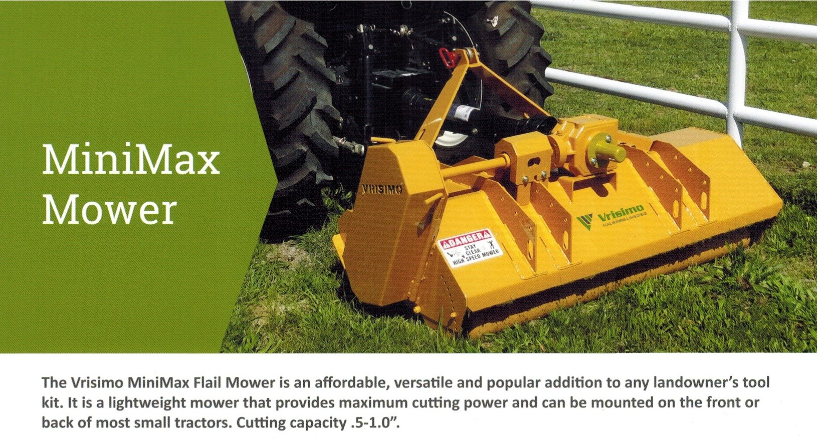 MiniMax Series Vrisimo Flail Mower For Small Tractors From 18-22 HP