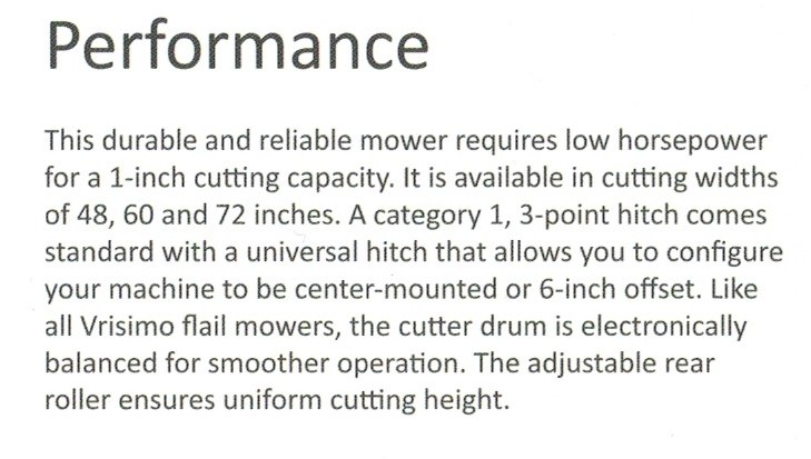 Performance Features MiniMax Series Vrisimo Flail Mowers