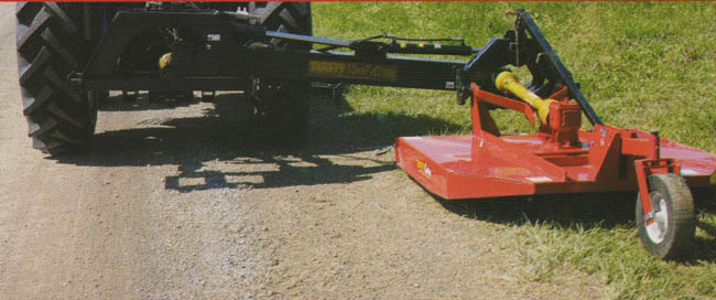 Tractor Mounted Brush Cutter : Tractor mounted pto powered articulated arm brush mower