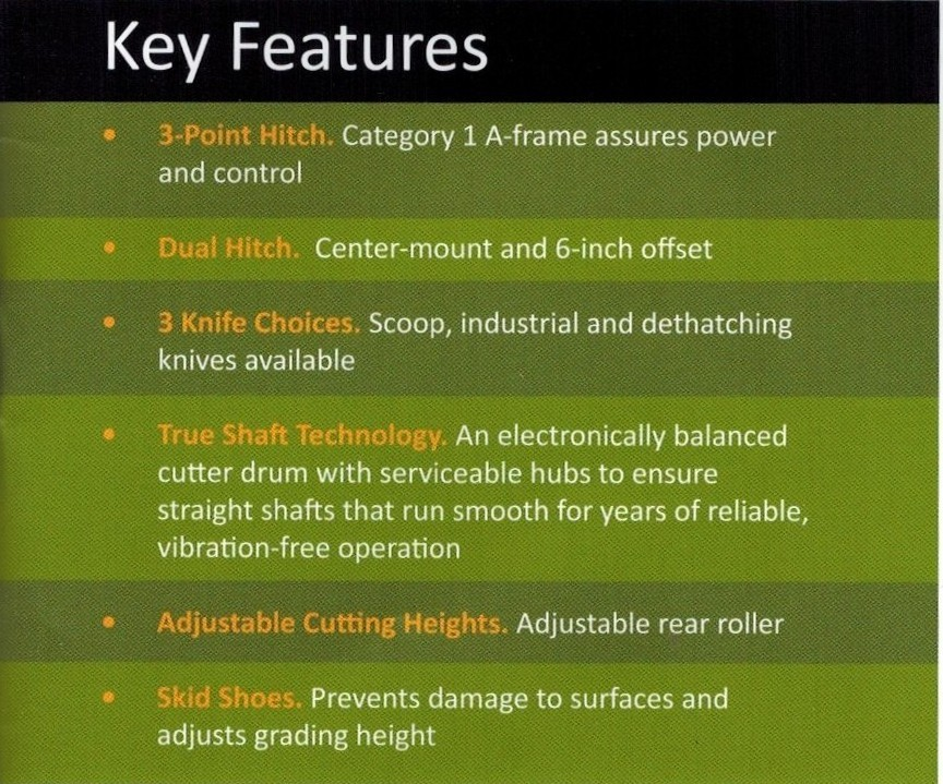 Key Features Mighty Max Flail Mowers