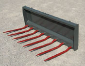 Skid Steer Mount And Tractor Loader Mount Manure And Silage Forks
