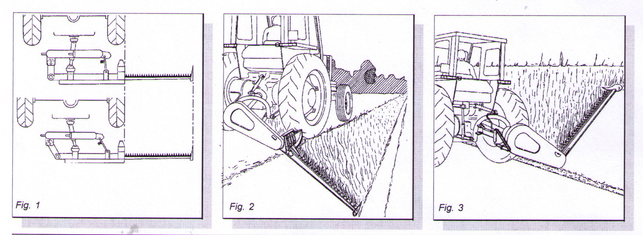 Hitch Postions And Bar Positions - Hitch connection can be shifted to right, sickle bar can be angled to mow ditch banks and hillsides.
