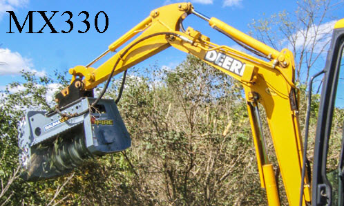 Model WLMX330 Excavator Mounted Brush Mulcher