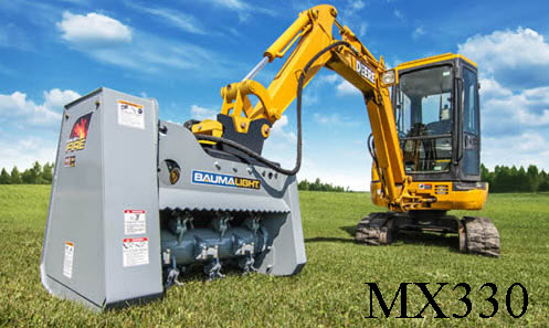 Model WLMX330 (MX330) Hydraulic Drive, Excavator Mounted Brush Mulcher