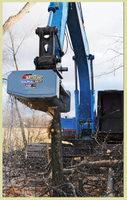 MX748 Excavator Mounted Brush Mulcher