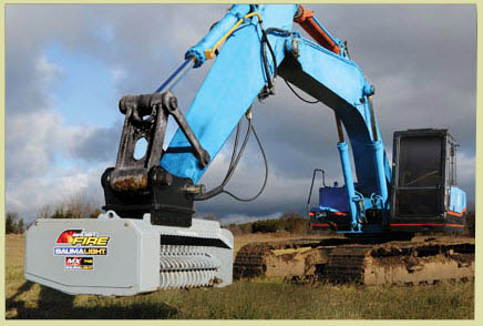 Excavator/Backhoe Mounted Hydraulic Powered Brush Mulcher Head