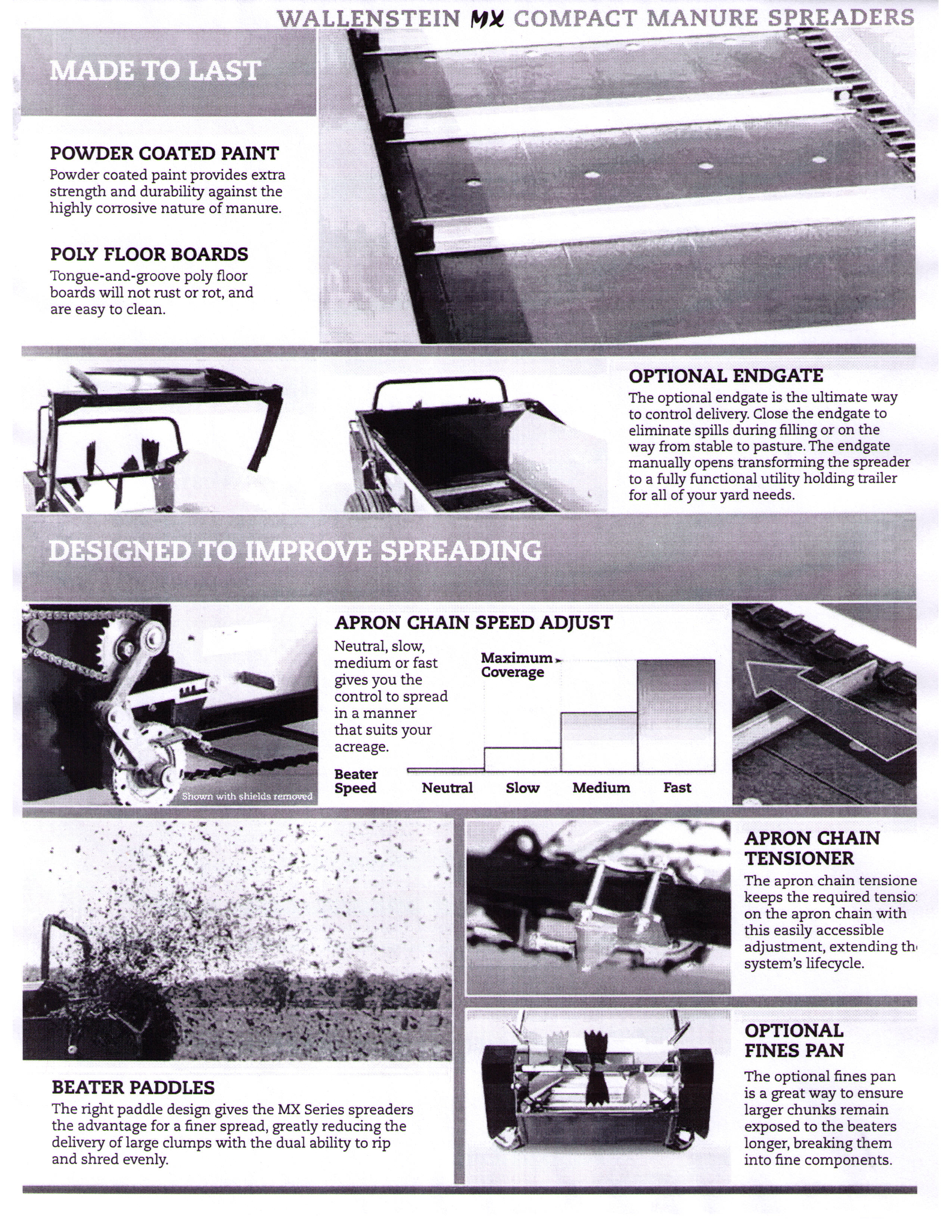Features Of MX Series Manure Spreaders