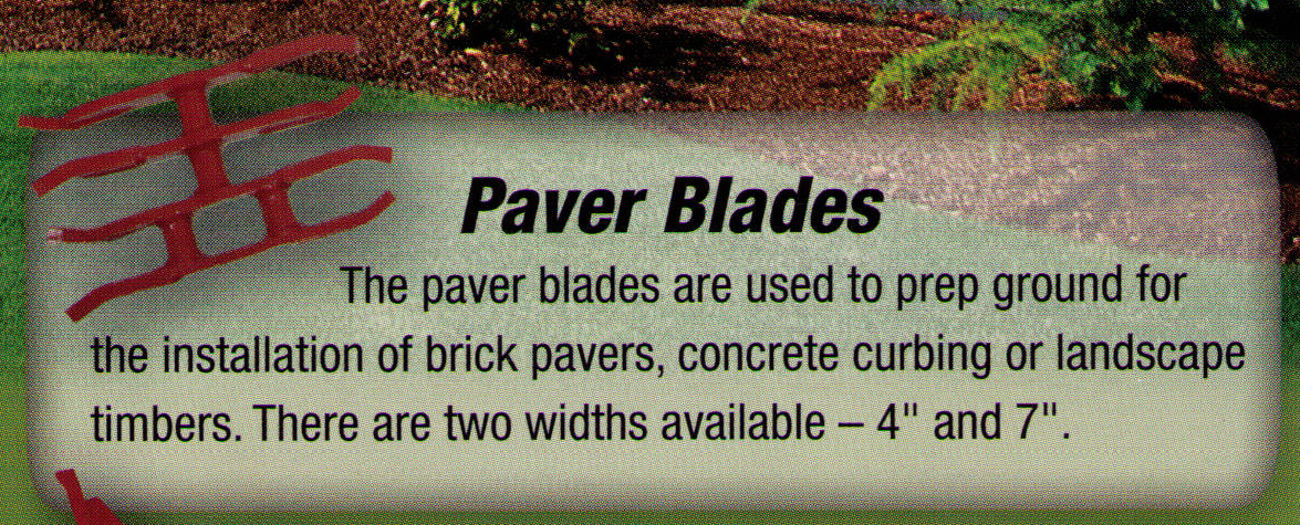 Paver Blades In 2 Inches And 7 Inches Wide For Ground Prep, For Bedscaper Machines