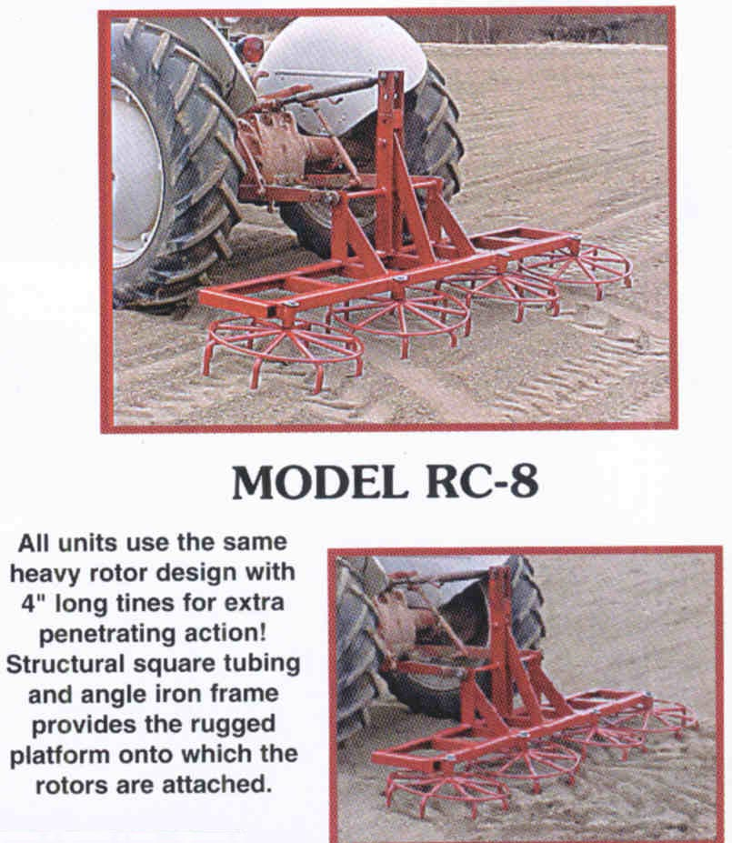 RC-8 - Eight Ft. Rotary Harrow
